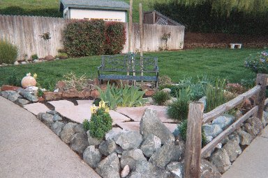 Sitting Area with Flagstone